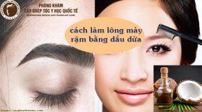 cách làm lông mày rậm bằng dầu dừa