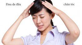 Đau da đầu chân tóc gây nên tình trạng rụng tóc thì phải làm sao?