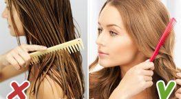 Có nên chải tóc khi tóc ướt?