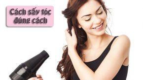 cách sấy tóc đúng cách