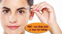 Nhổ lông mày hay cạo lông mày có mọc lại không?