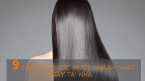 cách làm tóc mượt nhanh nhất