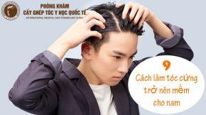 cách làm tóc cứng trở nên mềm cho nam